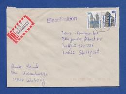 Bund R-Brief Einschreiben MiF Sehenswürdigkeiten - WARBURG - [7] République Fédérale