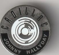 Rare Pin's Johnny Halliday Album Cadillac Blanc - Personnes Célèbres