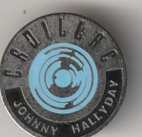 Rare Pin's Johnny Halliday Album Cadillac Bleu - Personnes Célèbres