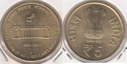 India 5 Rupees 2012 (60 Years Of India Government Mint, Kolkata) - Used - India