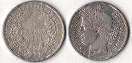 5 FRANCS CERES 1849 A - France