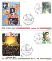 2 Fdc Filagrano:EUROPA 1998 ; No Viaggiata - 6. 1946-.. Repubblica