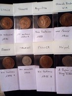 LOT 8 MONNAIES DIVERS - Monnaies & Billets