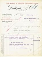 Facture 1913 SCLESSIN  - DALIMIER & Cie -Construction D'appareils De Pesage : Balances, Bascules, Ponts à Peser, Tickets - Belgique
