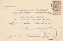 665/27 - Carte-Vue TP 55 LIEGE DEPART 1899 Vers RUMELANGE Luxembourg - TARIF PREFERENTIEL IMPRIME à 2 C Au Lieu De 5c - 1893-1907 Wappen