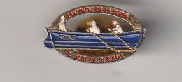 Rare Pin's Lancement De La Chippe Maria à St Suliac Le 15 Août 91 - Bateaux