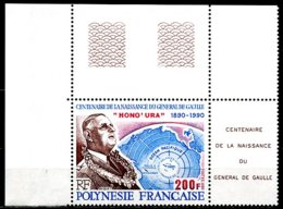 Polynésie   Y&T  364  XX   ---     MNH  --  Luxe  --   Superbe Coin De Feuille... - Polynésie Française