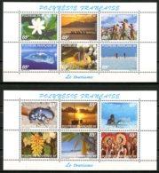 Polynésie   Y&T  536 - 547  XX   ---     MNH  --  Superbes Feuillets   --  Jamais Pliés... - Polynésie Française