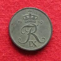 Denmark 1 Ore 1950 KM# 839.1  Dinamarca Danemark Danimarca Denemarken - Danemark