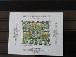 Block Wertzeichendruckerie PTT Vignet  MNH. - Blocs & Feuillets