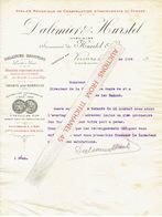 Lettre 1909 VERVIERS  - DALIMIER & HURSTEL - Construction D'instruments De Pesage : Balances, Bascules.... - Belgique