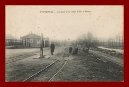 Tinténiac * La Gare Et Le Canal D'ile Et Rance  ( Scan Recto Et Verso ) - France