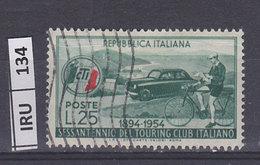 ITALIA REPUBBLICA 1954Touring Club, Usato - 1946-60: Used