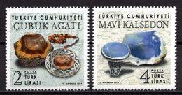 2019 TURKEY PRECIOUS STONES EMBOSSED STAMPS MNH ** - Minéraux