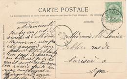 670/27 - Carte-Vue BRUGES TP 83 Ste CROIX 1909 Vers SPA - NIPA 175 X 3 - 1893-1907 Wappen