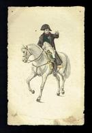 CPA 5 - Napoléon à Cheval - Portrait - Stahlstich Galerie Série 26 - Histoire