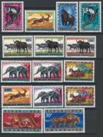 """Rwanda, 1964 Issues Of Rwanda-Urundi Overprinted """"REPUBLIQUE RWANDAISE"""" - (full Set 15 Val) - MNH - Y-12 - Rwanda"""