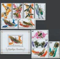 Rwanda, 1973 Insects - Stamps + Minisheet - Mint - Y-39 - Rwanda