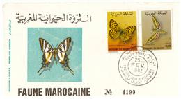 Maroc. 3  FDC. 1982-1988 - Marokko (1956-...)