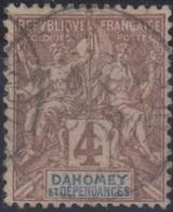Dahomey 1901-1905 4c MiN°8 (o) - Benin – Dahomey (1960-...)