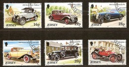 Jersey 1992 Yvertn°  579-584  (°) Oblitéré Used Cote 10 Euro Voitues Autos Cars - Jersey