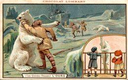 PUBLICITE Chocolat LOMBART   Les GRandes Chasses   Advertisement Advertising. - Publicité