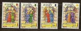 Jersey 1993 Yvertn°  629-632  (°) Oblitéré Used Cote 7,50 Euro Noël Christmas Kerstmis - Jersey