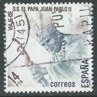 1982 SPAGNA USATO GIOVANNI PAOLO II - F15-8 - 1931-Today: 2nd Rep - ... Juan Carlos I
