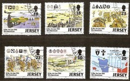 Jersey 1994 Yvertn°  653-658  (°) Oblitéré Used Cote 8,50 Euro D-Day Normandie - Jersey