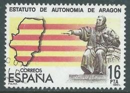 1984 SPAGNA USATO STATUTO AUTONOMIA ARAGONA - F16-2 - 1981-90 Usados