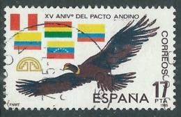 1985 SPAGNA USATO PATTO ANDINO FIRMATO A CARTAGENA COLOMBIA - F16-3 - 1931-Today: 2nd Rep - ... Juan Carlos I