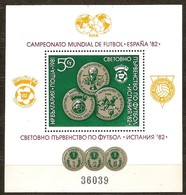 Bulgarie Bulgaria 1981  Yvertn° Bloc 98A *** MNH Cote 40 Euro Sport Coup Du Monde Football Espagne Espana - Blocks & Sheetlets