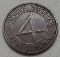 4 Pfg. 1932 G - [ 3] 1918-1933 : Weimar Republic