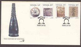 Venda (Homeland Of South Africa) - 1986 - History Of Writing - Complete Set On FDC - Venda