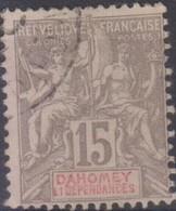 Dahomey 1899-1900 15c MiN°2 (o) - Benin – Dahomey (1960-...)