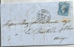 Etoile De Paris N° 16 - Marcophilie (Lettres)