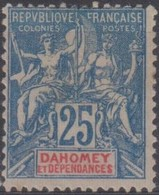 Dahomey 1899-1900 25c MiN°4 MLH/* - Benin – Dahomey (1960-...)