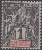 Dahomey 1901 1c MiN°6 MLH/* - Benin – Dahomey (1960-...)