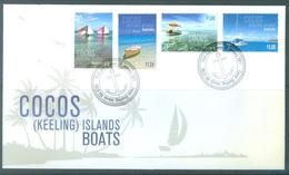 COCOS (KEELING) ISLANDS  - FDC - 18.1.2011 - BOATS - Yv 441-444  -  Lot 18886 - Cocos (Keeling) Islands
