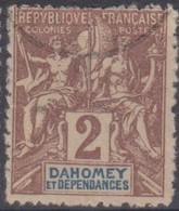 Dahomey 1901 2c MiN°7 (o) - Benin – Dahomey (1960-...)