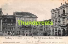 CPA POTSDAM HOTEL STADT KONIGSBERG BESITZER ALBIM MEIER - Potsdam