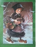 KOV 8-100- New Year, Bonne Annee, Children, Enfants, Rabbit, Lapin - Nouvel An