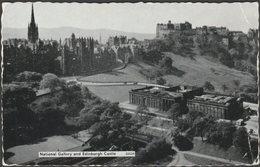National Gallery And Edinburgh Castle, C.1950s - Postcard - Midlothian/ Edinburgh