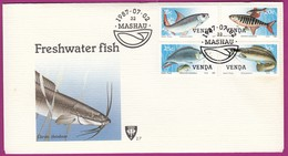 Venda (Homeland Of South Africa) - 1987 - Freshwater Fish - Complete Set On FDC - Venda