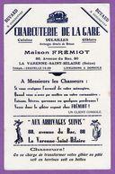 Buvard Charcuterie De La Gare 80 Avenue Du Bac A La Varenne Saint Hilaire - Maison Fremiot - Buvards, Protège-cahiers Illustrés