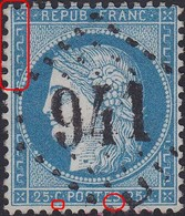 N°60A Position 6B2, Oblitéré GC 941, TB. - 1871-1875 Cérès