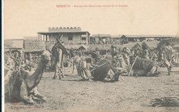 A M 225 /  C P A - DJIBOUTI -  STATION  DES CARAVANES VENANT DE LA BROUSSE - Gibuti