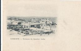 A M 229 /  C P A - DJIBOUTI -   TERRASSES DU QUARTIER ARABE - Gibuti