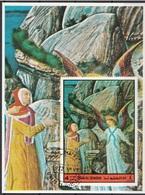 Bf. Umm Al Qiwain 1972 Dante Alighieri Divina Commedia Purgatorio Miniatura Illustrazione Fg. 1 Imperf. - Umm Al-Qiwain