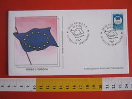 A.01 ITALIA ANNULLO - 1991 NOVARA 16^ MOSTRA CAMPIONARIA EXPO BANDIERA FLAG VERSO L' EUROPA - Francobolli